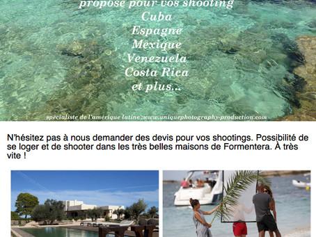 La saison de shooting commence à Formentera.