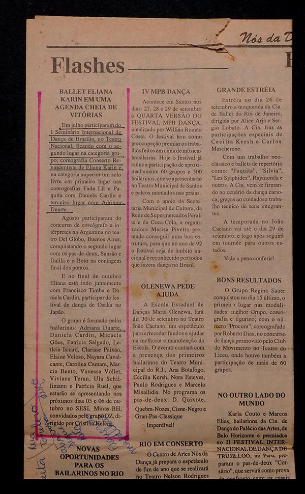 Nós da Dança Newspaper.