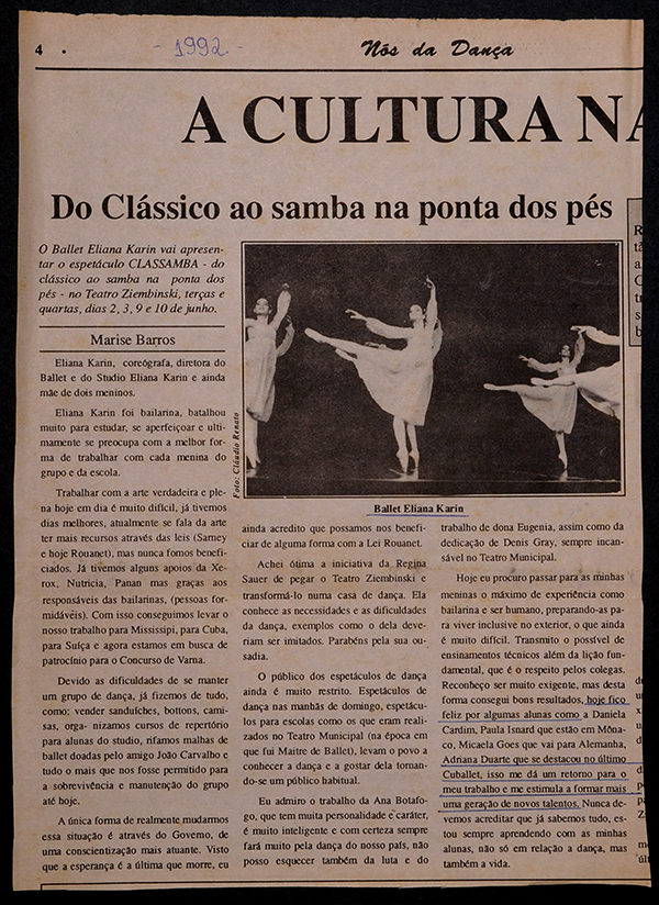 Highlighted in Cuballet 1992.