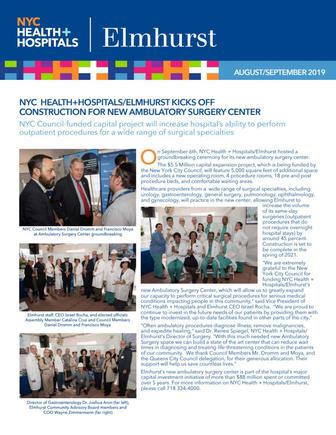 News from NYC Health + Hospitals/Elmhurst