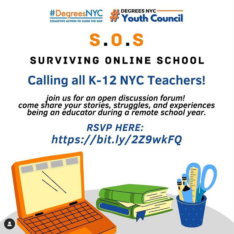 S.O.S (Surviving Online School) - K-12 Teacher Forum