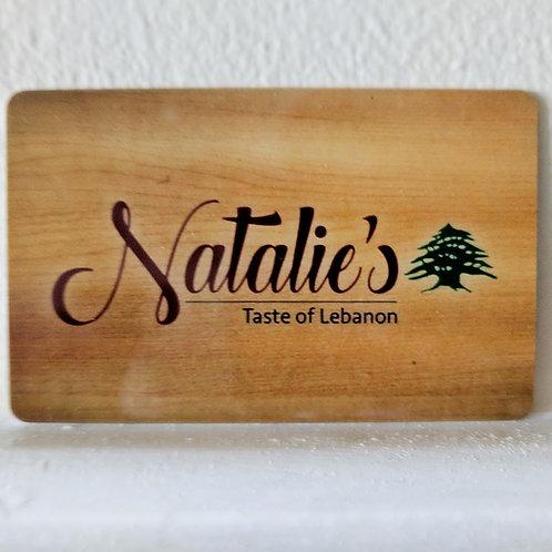 Natalie's Gift Card $10