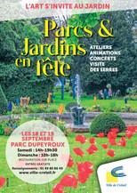 Affiche Parcs et Jardins en fête 2021
