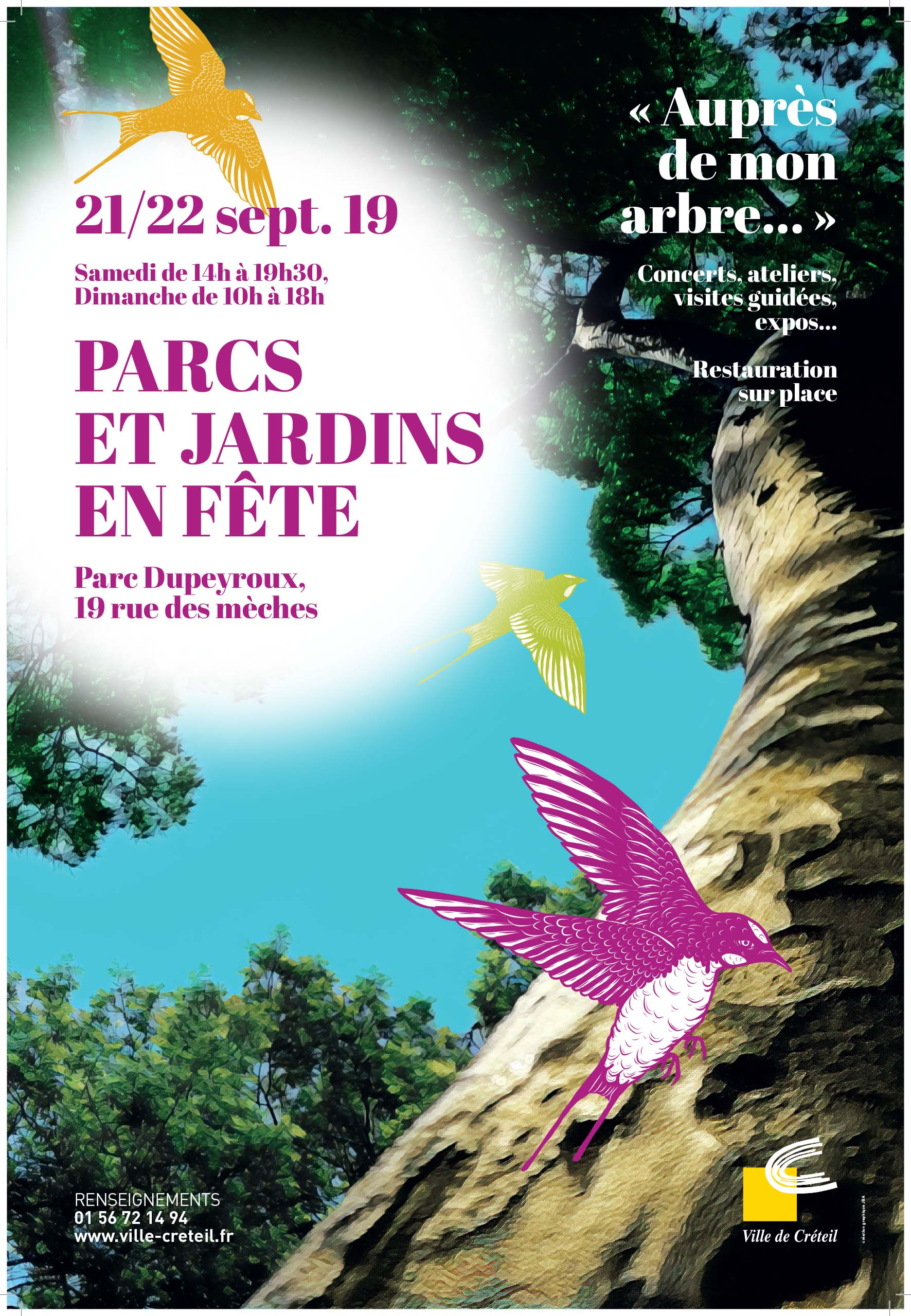 Affiche de Parcs et Jardins