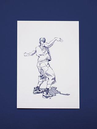 DANCING MAN POSTCARD