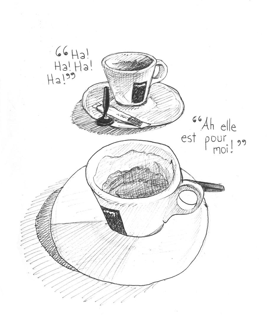 discussions au café