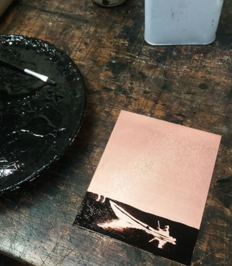 copper acid etching