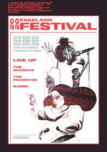 fake festival poster
