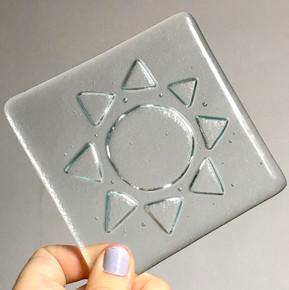 glass coaster design