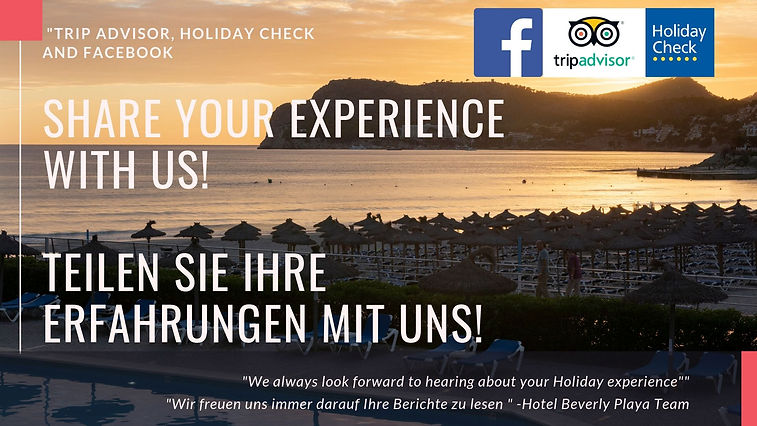 share your experience with us Teilen Sie