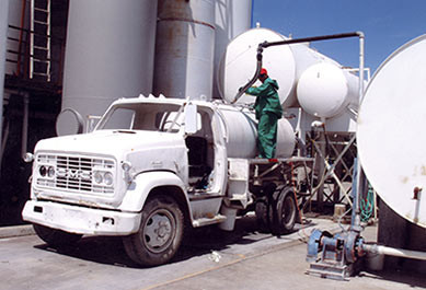 Product Is Filled Into Tanker Truck