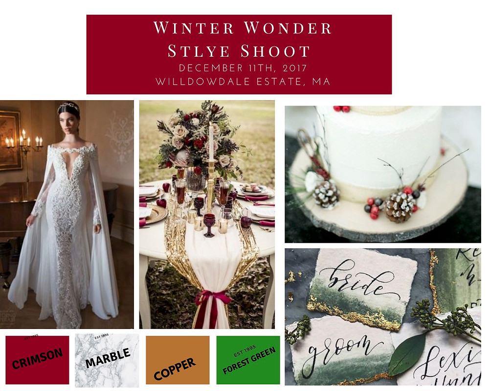 winter wedding mood board