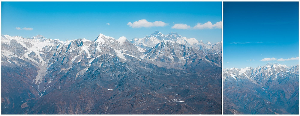 Himalayan Mountains from Mountain Flight views