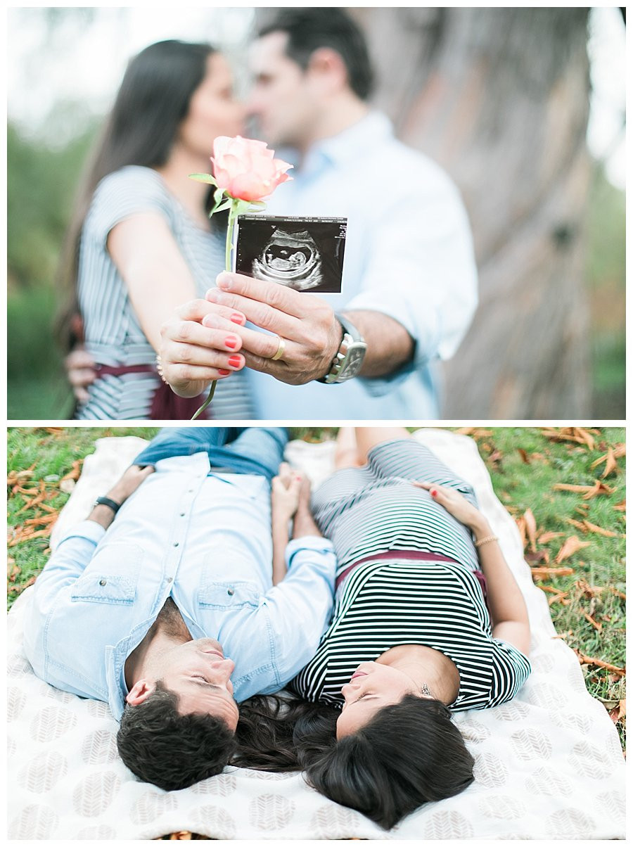 maternity session with ultrasound photo