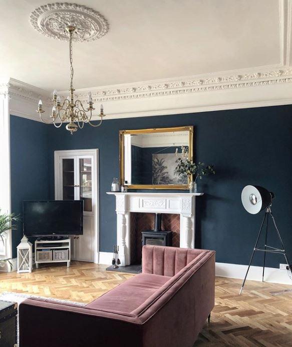 modern victorian sitting room