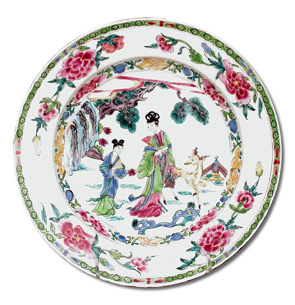 Porcelain chinoiserie plate