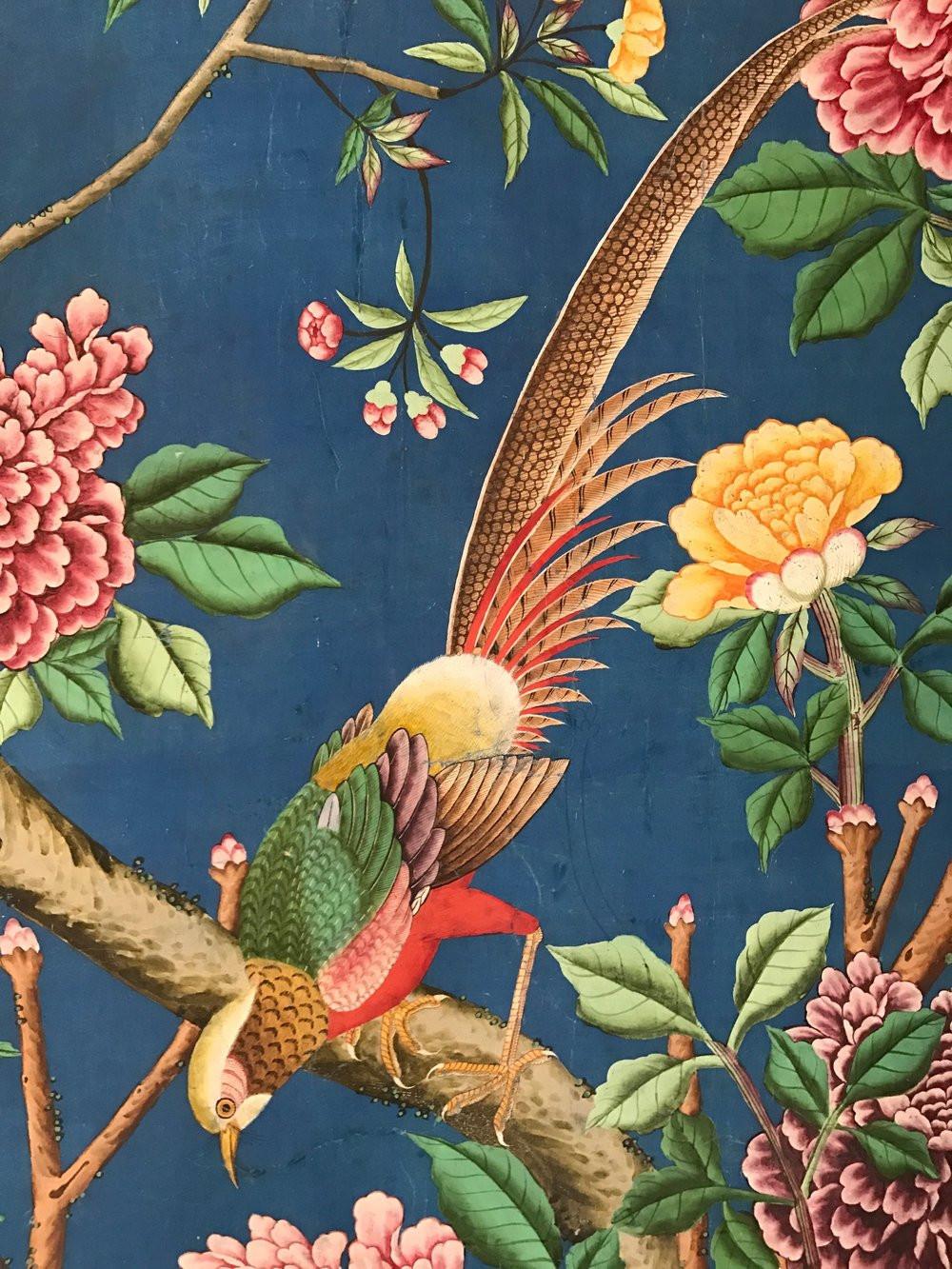 Chinoiserie wallpaper panel Allyson McDermott