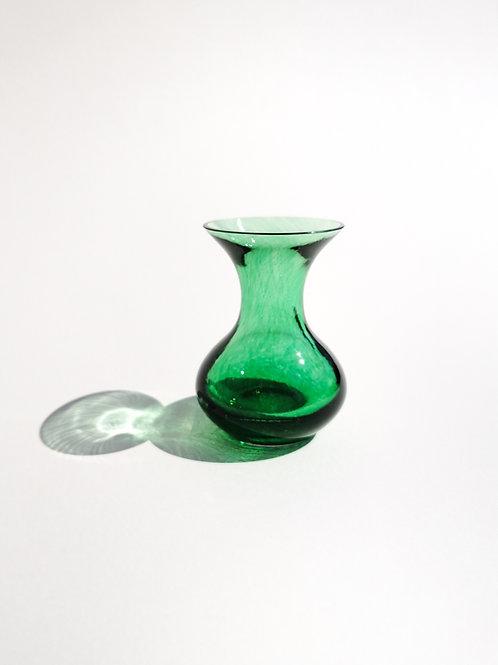 Handmade Green Glass Bud Vase