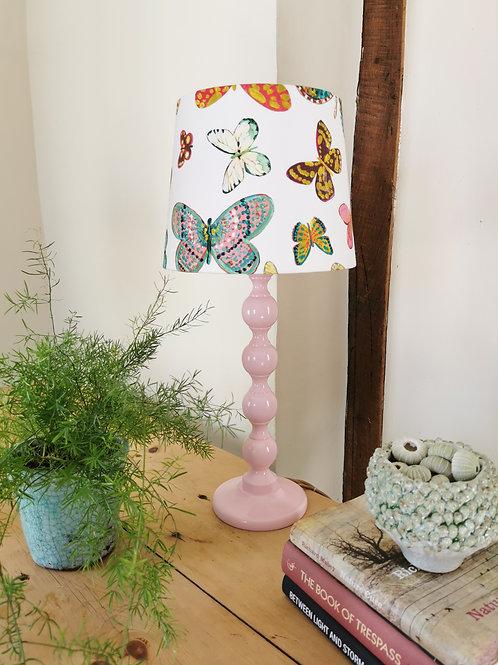 Pink Bobbin Table Lamp