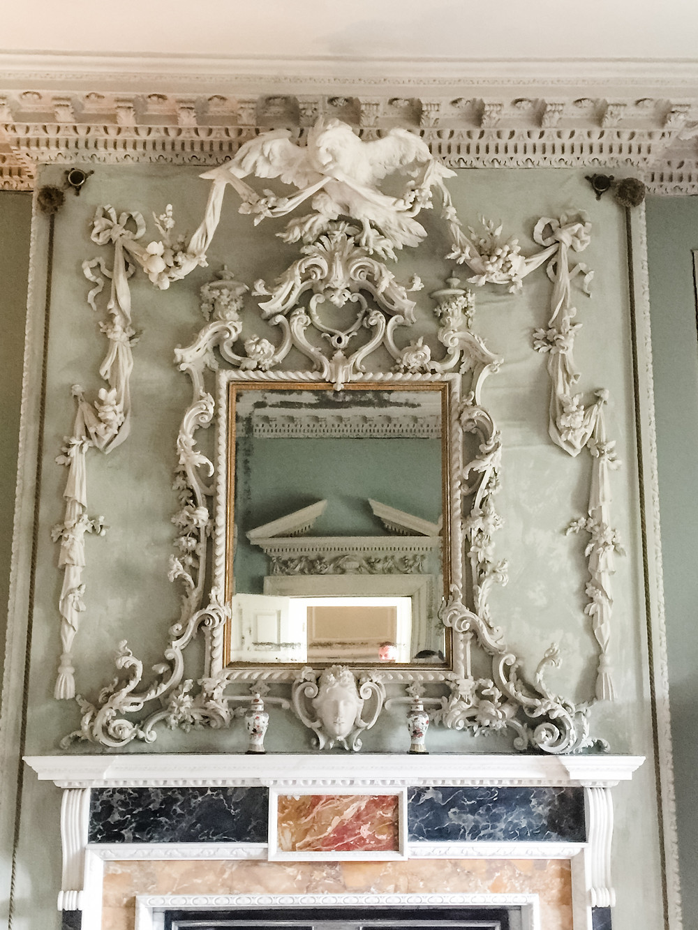 Rococo mirror at Peckover House