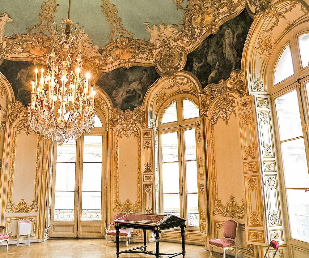 Rococo interior at Hotel de Soubise