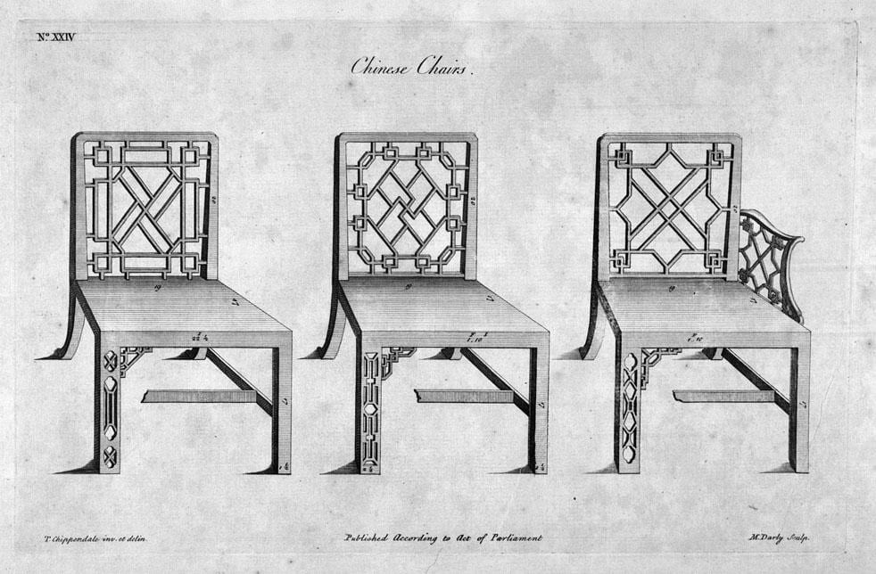 Fretwork Chippendale chairs