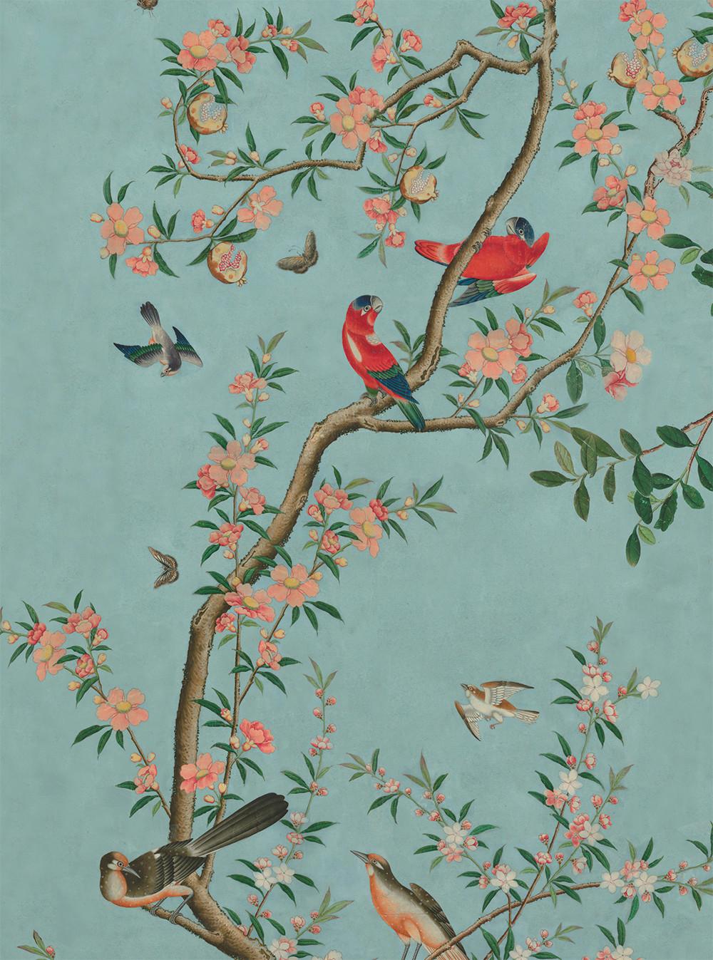 Chinese Garden wallpaper panel