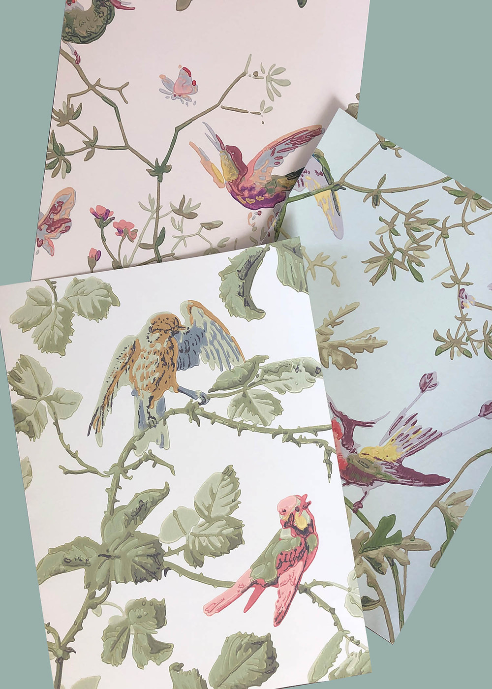 Cole and Son Humming birds and Winter birds Wallpaper