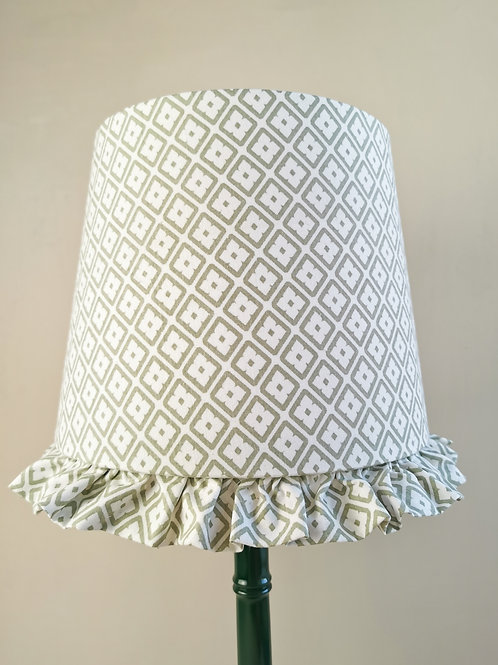 Pale Olive and Cream Empire Lampshade 25cm