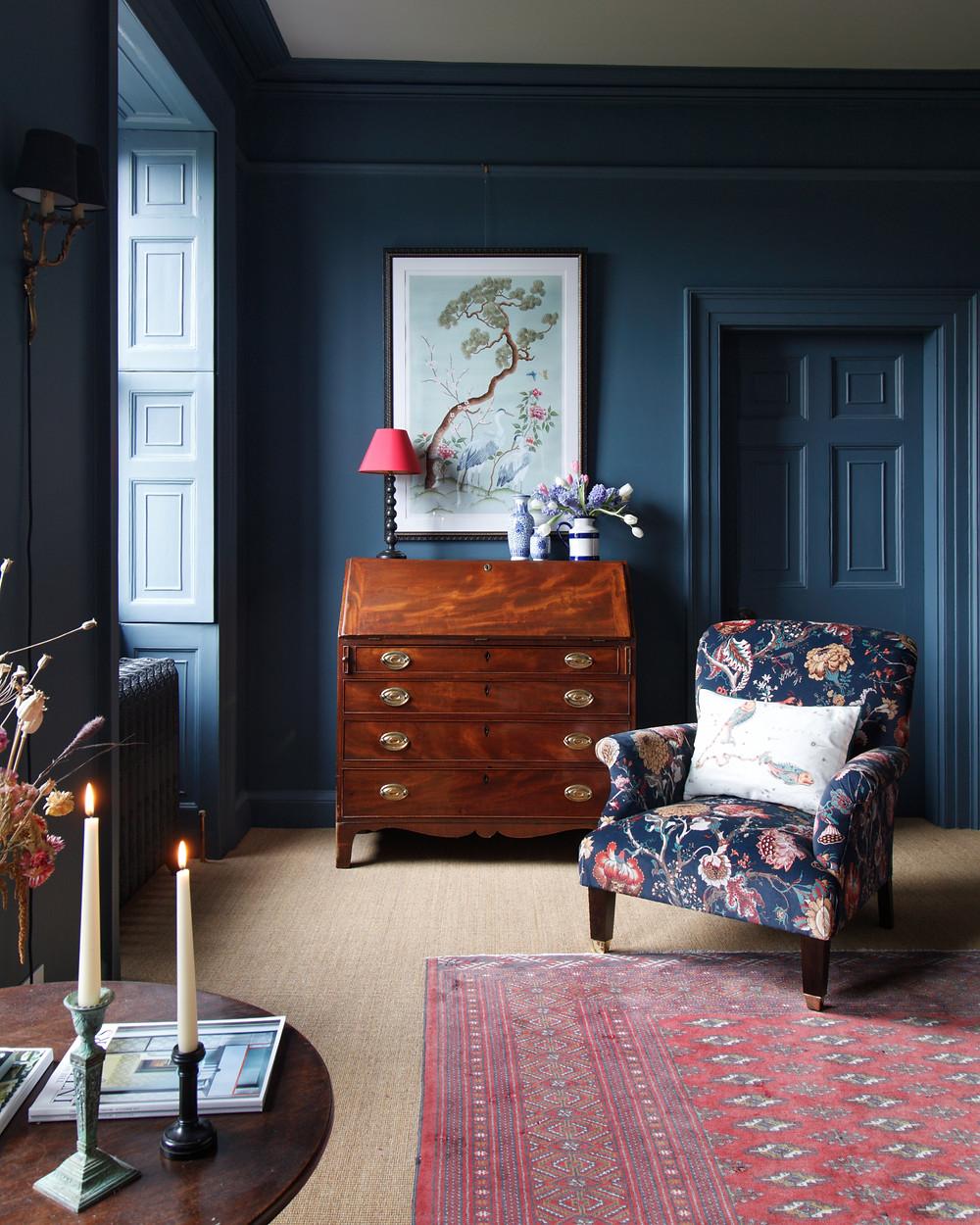 Dark Blue Walls Regency House
