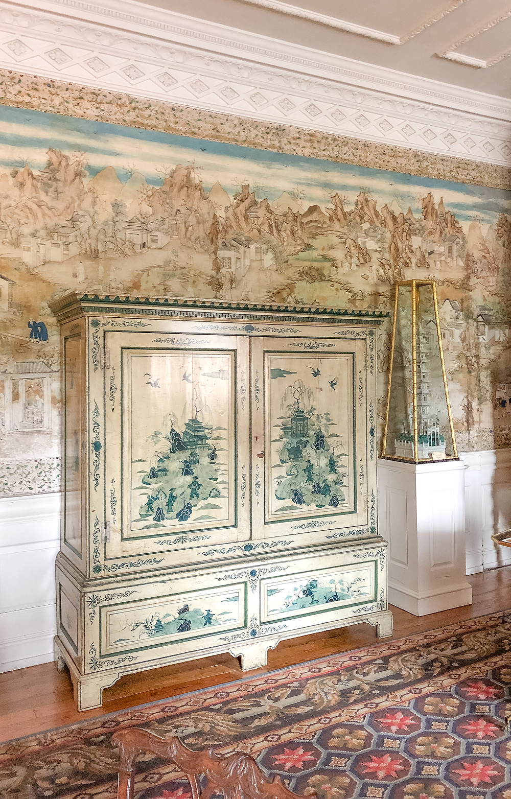 Chinese cabinet at Blickling Hall