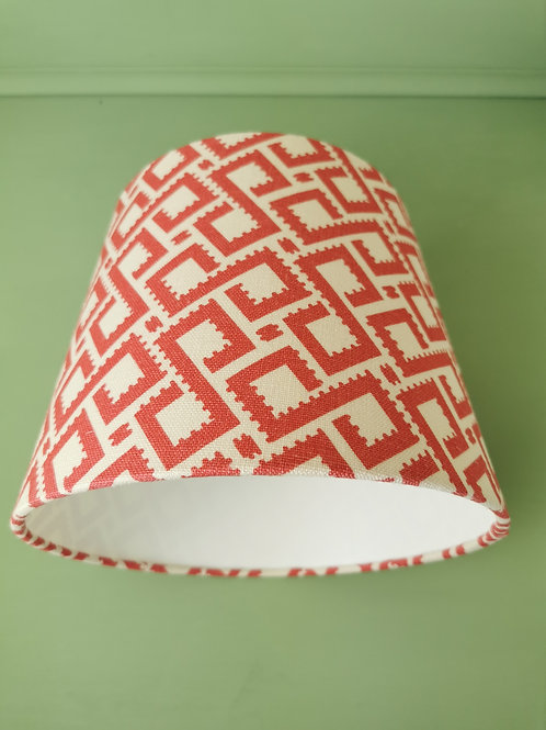 Coral and Cream Empire Lampshade 25cm