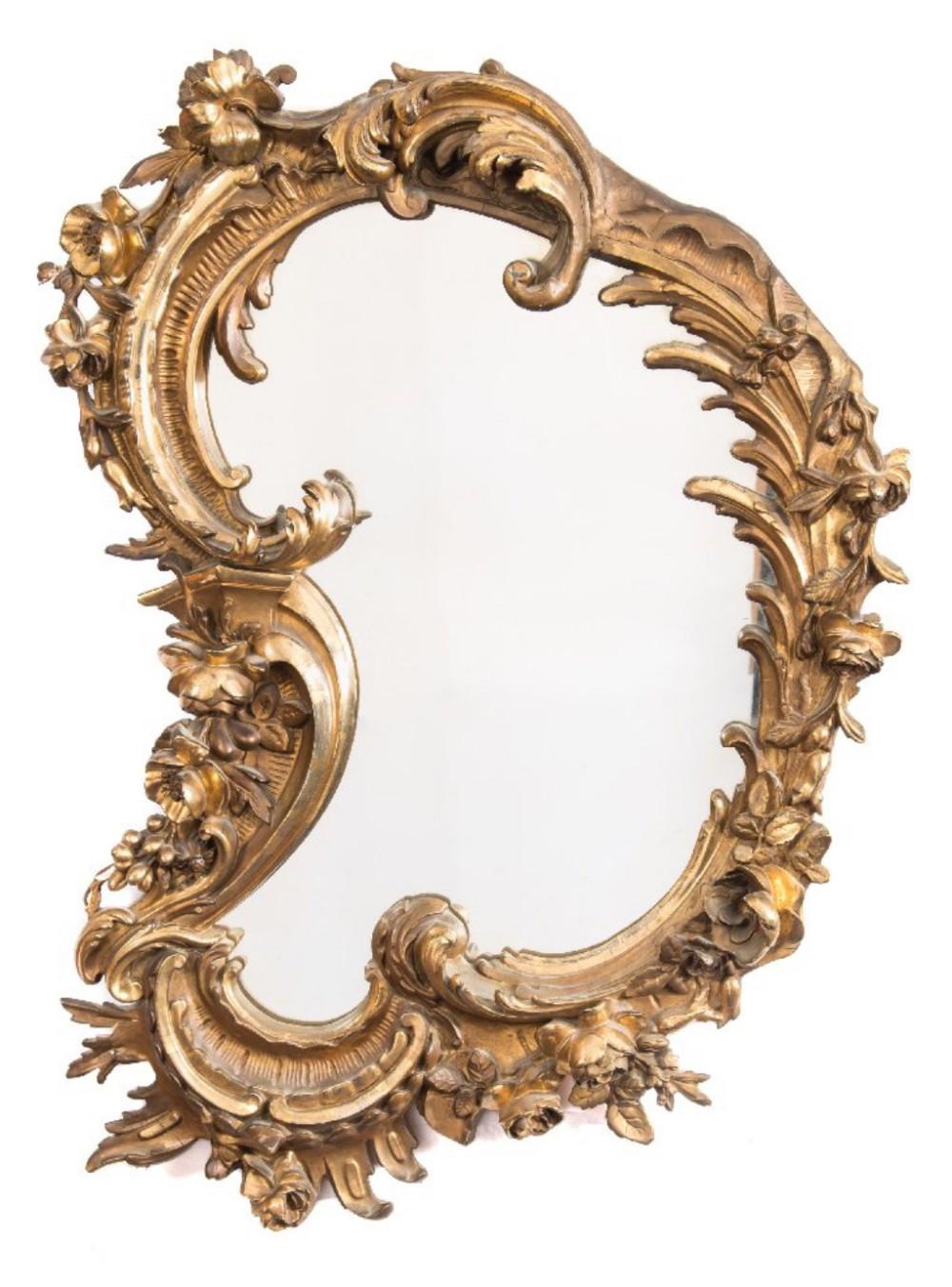 Antique Rococo Mirror