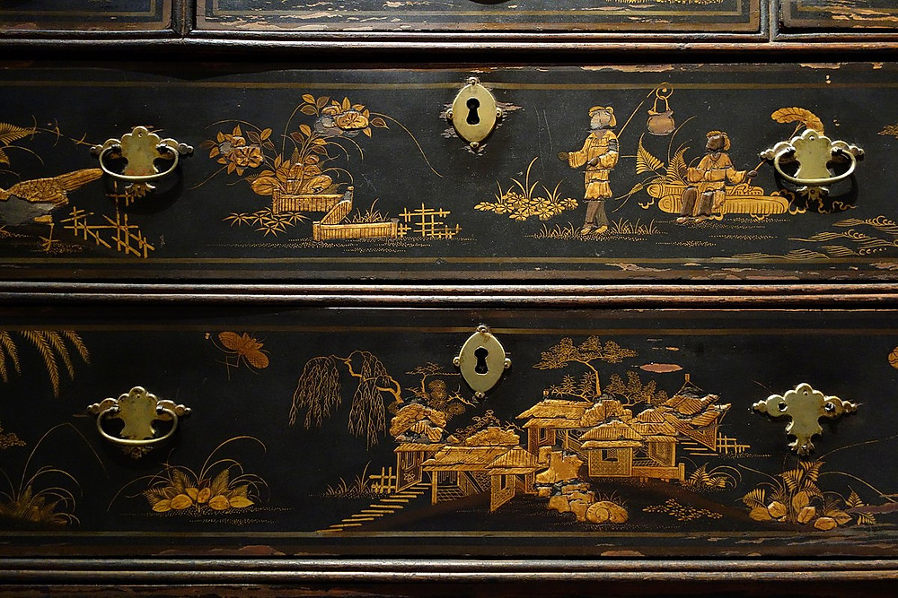 Chinoiserie chest on chest