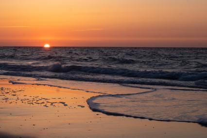 Ondergaande zon Walcheren