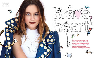 "Leighton Meester for Nylon. ""Brave Heart"". Photographer: Felisha Tolentino."