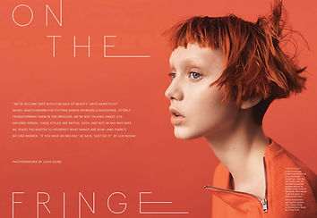"Katie Moore for Allure. ""On the Fringe"". Photographer: Josh Olins."