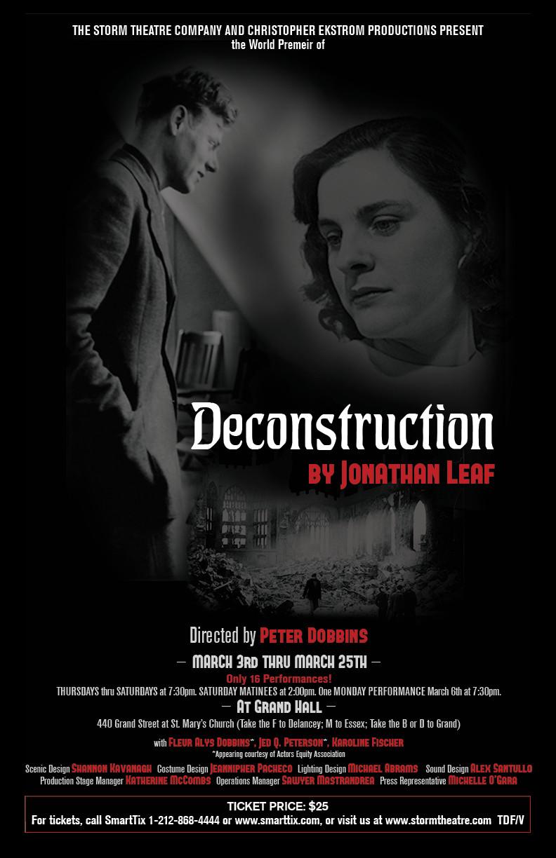Image of Decontruction Poster