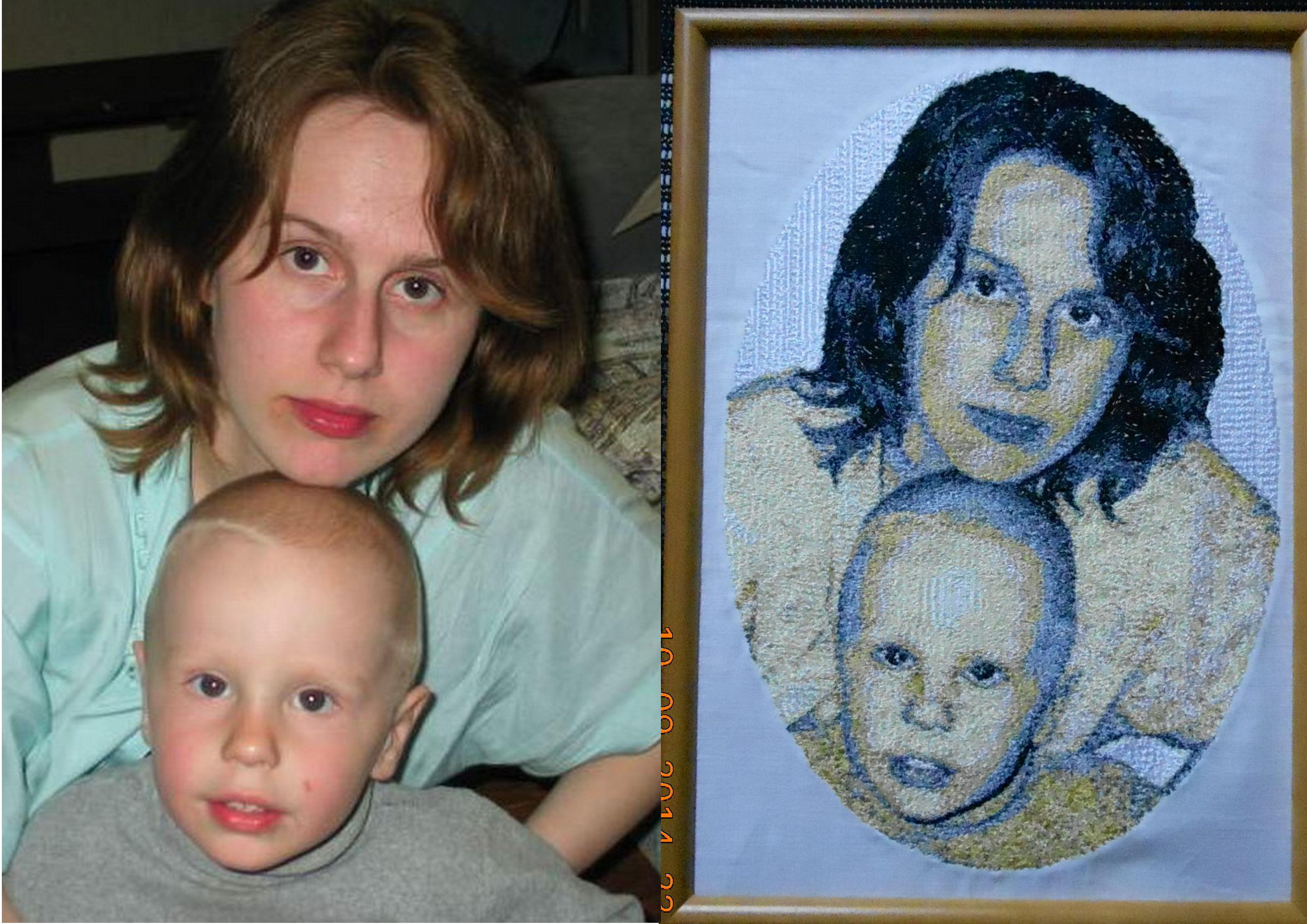 вышивка портрет Калининград