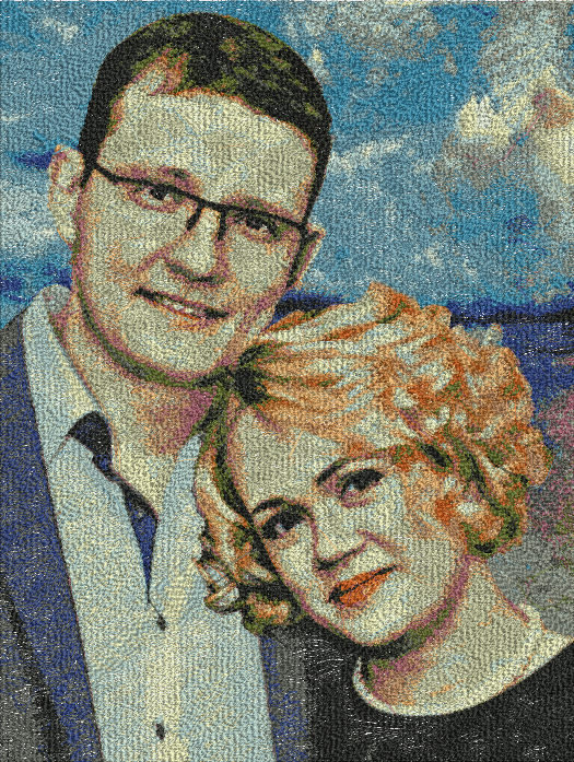 Family Photo Embroidery