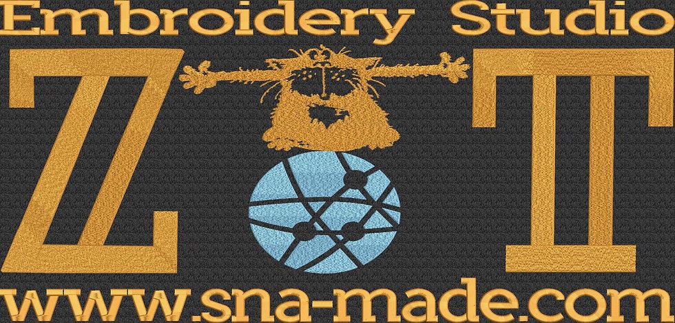 логотип студи вышивки ZT Калининград