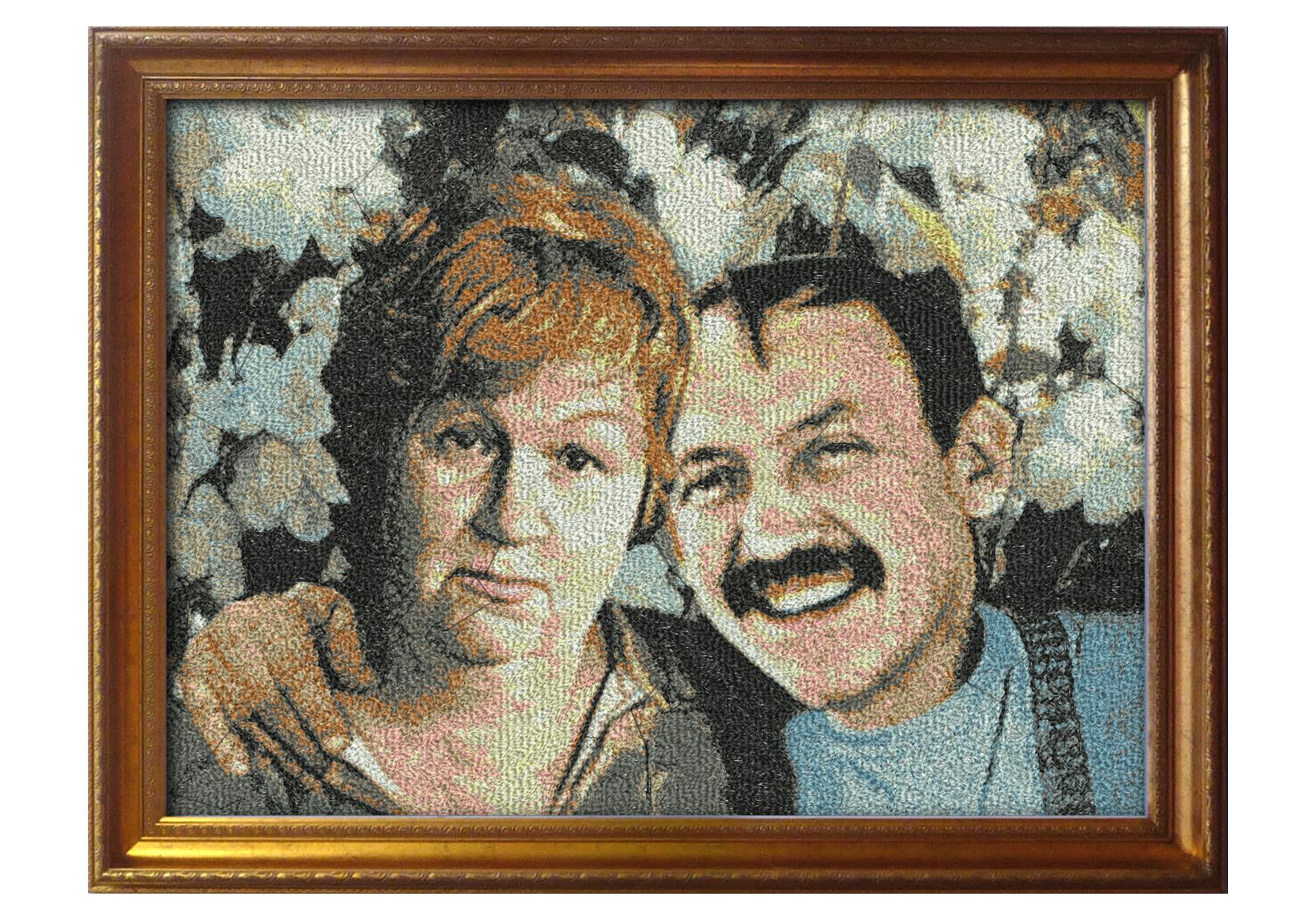 Семейный портрет. Вышивка