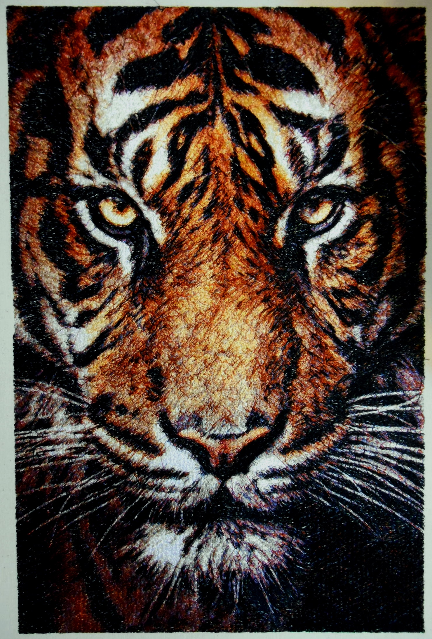 Embroidery Tiger Size A3