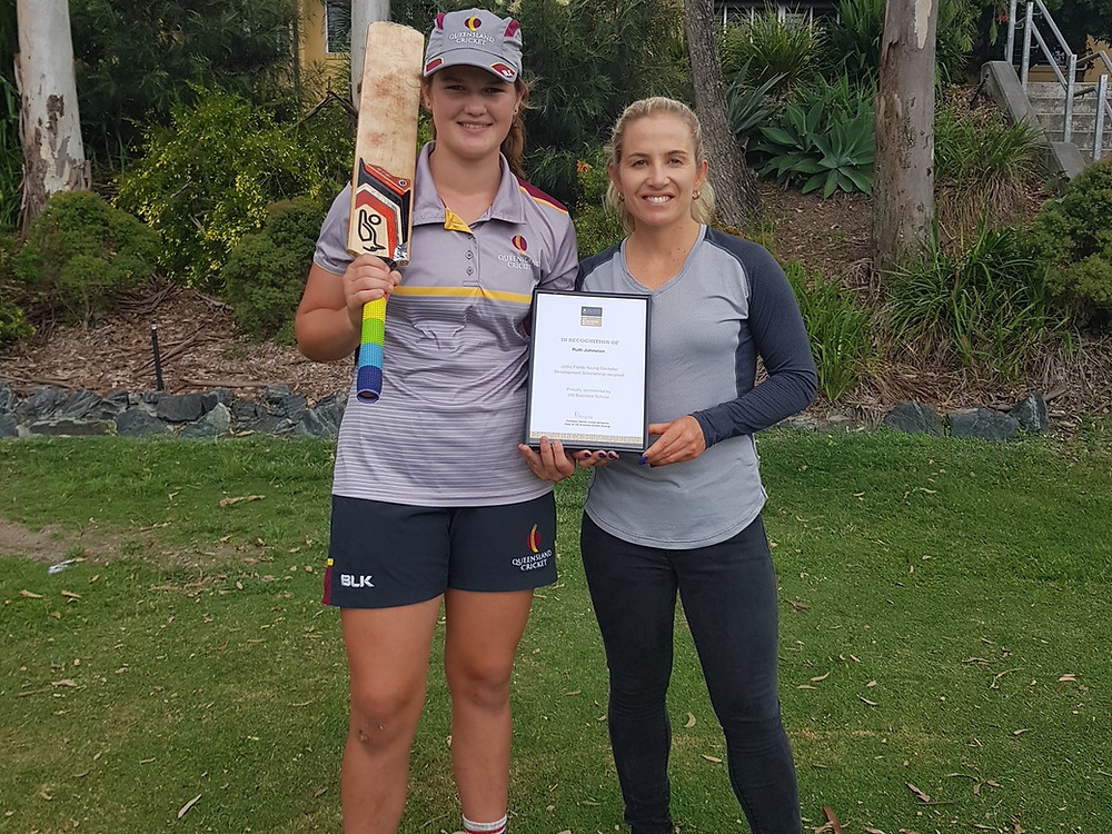 Jodie Fields and Ruth Johnston Scholarship Recipient Agency X Talent Australian Cricketer