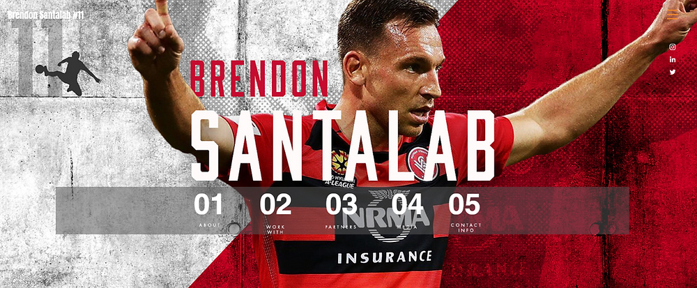 Brendon Santalab Agency X Talent Perth Glory A-League Footballer