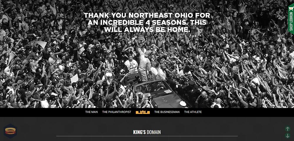LeBron James Lakers Basketballer Athlete Website