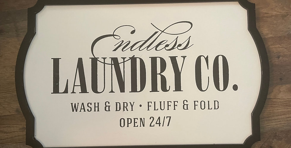 """Endless Laundry on Couture Boutique™ Board Odette Black Frame (White, 12""""x18"""")"""