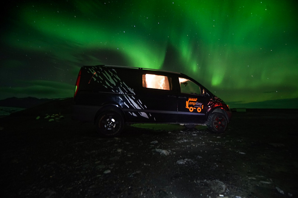 Northern Lights Camper Van Roadtrip