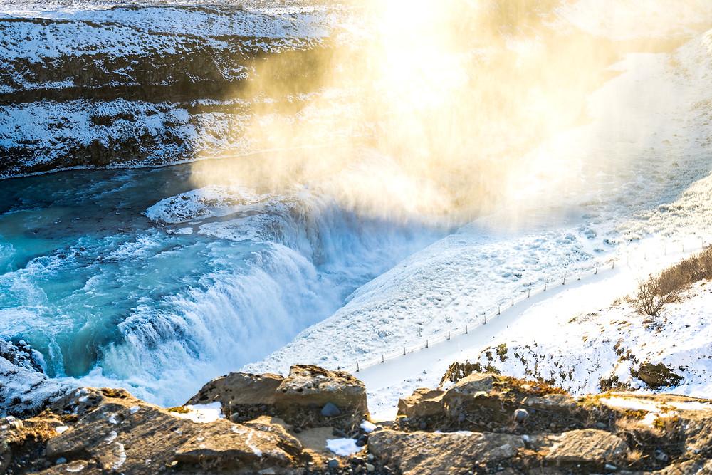 Iceland's Golden Circle - Gullfoss Waterfalls