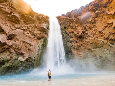 Mooney Falls in Havasupai Indian Reservation